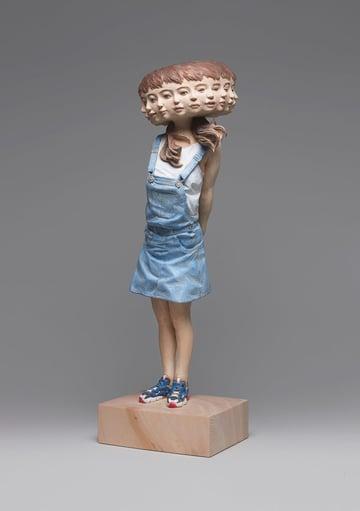 Tayuta Capris Sculpture by Yoshitoshi Kanemaki
