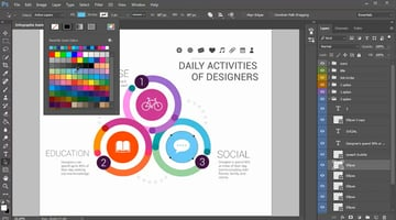 Customize Infographic Elements with Color Fill
