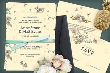 Beige Wedding Invitation
