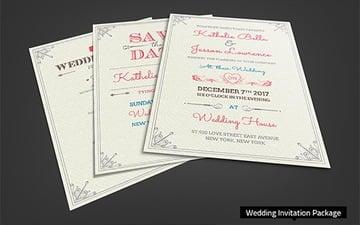 Fresh Royal Wedding Invitation Package