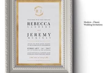 Modern Classic Wedding Invitations