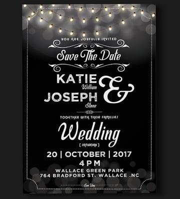 Wedding Invitation - Lights