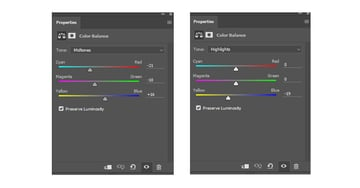 Add a New Adjustment Layer of Color Balance