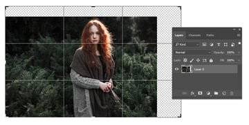Create a Larger Canvas with the Crop Tool