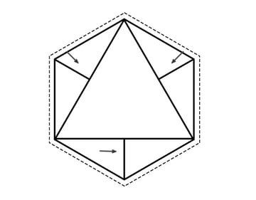 Create Line Connect the Hexagon to the Triangle