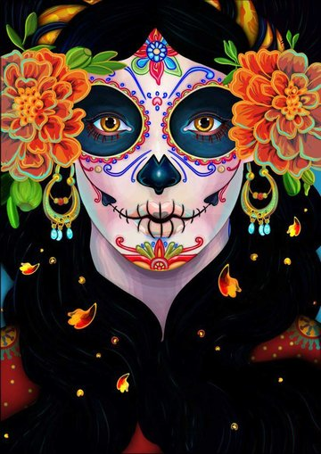 Day of the Dead Portrait by James Jenlins