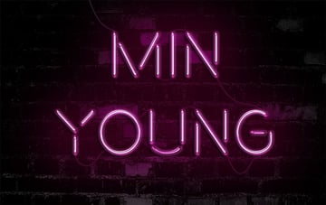 Neon Light Text Effect by Minyoung Park