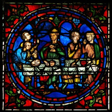 Stained Glass Panel from The Middle Ages