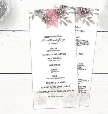 Wedding Invitation Stationery - Rose Garden