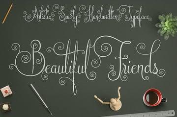 Beautiful Friends Font