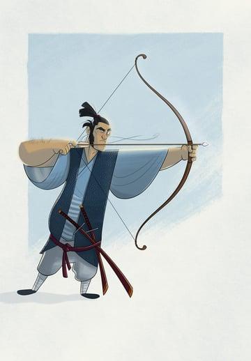 Samurai Character Design by Peter Slattery