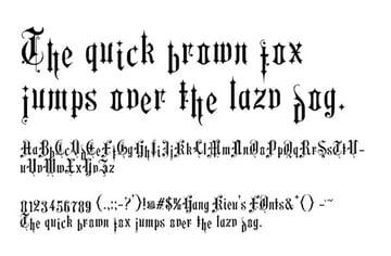 Hang Kieu Typeface