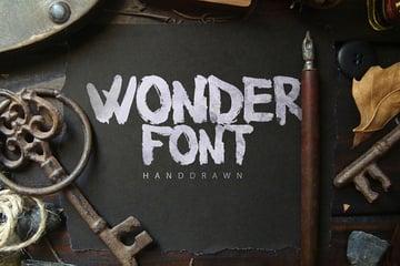 Wonderfont Brush Typeface