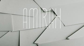 Amirah Display Typeface
