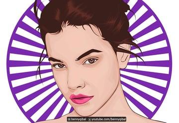 Vector Portrait Adobe Illustrator Tutorial
