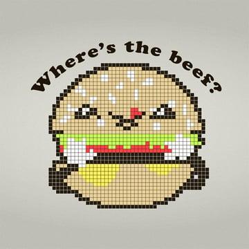 Cute Vector Burger Adobe Illustrator Tutorial