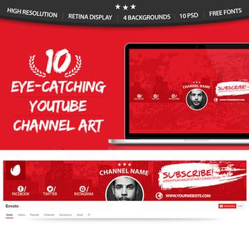 10 Multipurpose YouTube Channel Art