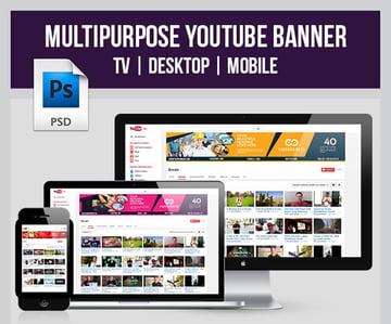 Multipurpose YouTube Banner