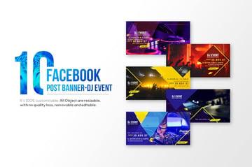 10-Facebook Post banners-DJ Event