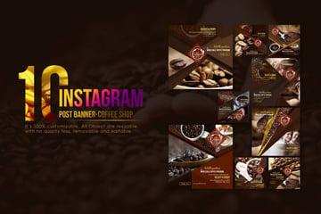 10 Instagram Post Banner - Coffee Shop