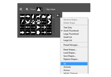 Custom Shape Tool in Adobe Photoshop