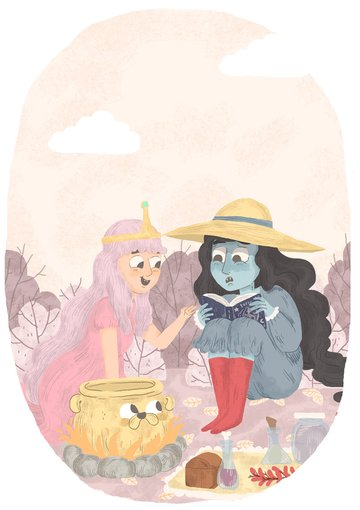 Marceline Wirt and Friends by Nat Rivera