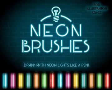 Neon Illustrator Brushes