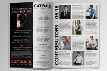 Catwalk Magazine InDesign Template
