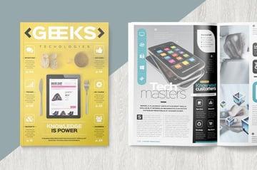 Tech Magazine InDesign Template