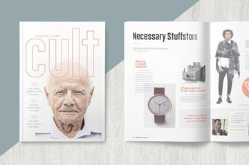Typography InDesign Magazine Template