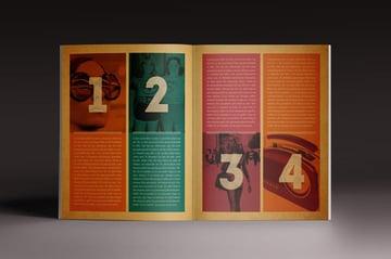 Retro style magazine template