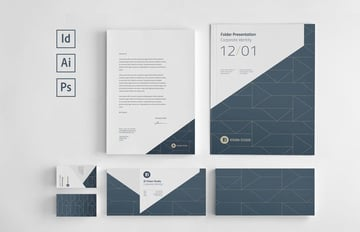 Corporate InDesign Stationery Set Template