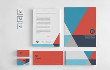 Block Color Stationery Set Template