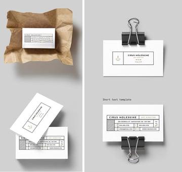 Minimal InDesign Business Card Template