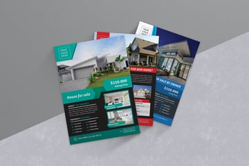Colorful Real Estate Flyers