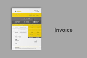 Bold Invoice Template