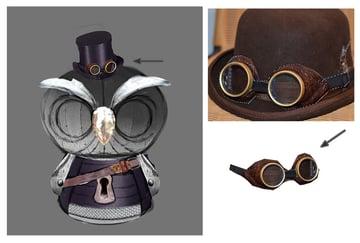 Add the Steampunk Goggles