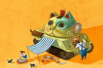 Catank Mini Picture Book by Croter Hung