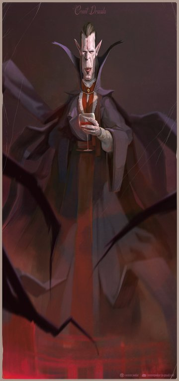 Count Dracula by Cosmin Podar