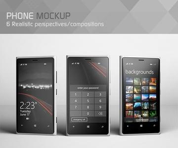 Realistic Phone Mockup