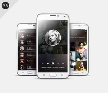 Smartphone S5 Mockups