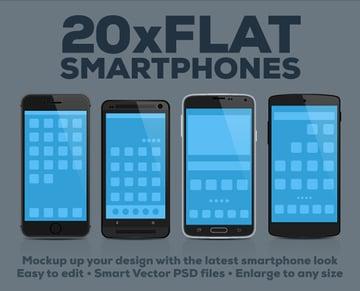 20 Flat Smartphones