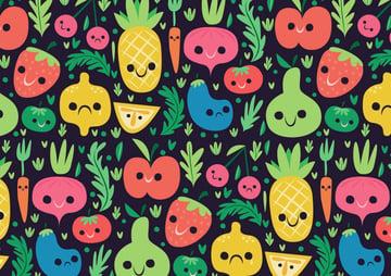 Mid Century Vegetable and Fruit Pattern Illustrator Tutorial