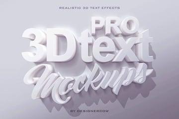 Pro 3D Text Mockups