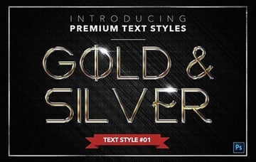 Gold Silver - Text Styles