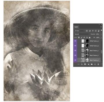 Adjust the Black Texture Opacity