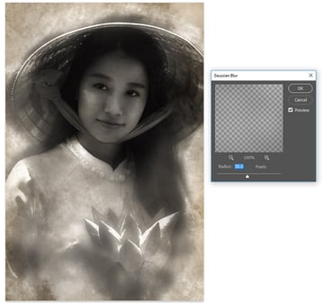 Blur the Texture Layers with Gaussian Blur