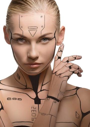 Darken the robot lines