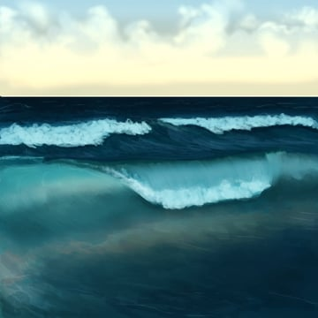 Continue blending the wave