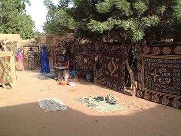 African Bogolan Cloth Market